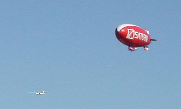 Blimp nearby